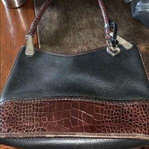 Brighton very heavy leather bag purse